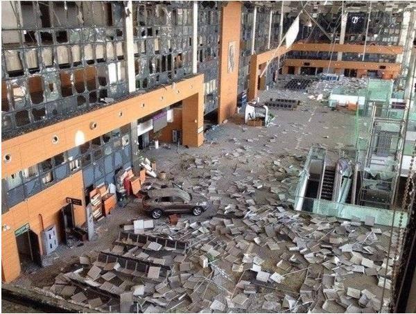 Разрушенный аэропорт Донецка, иллюстрация
