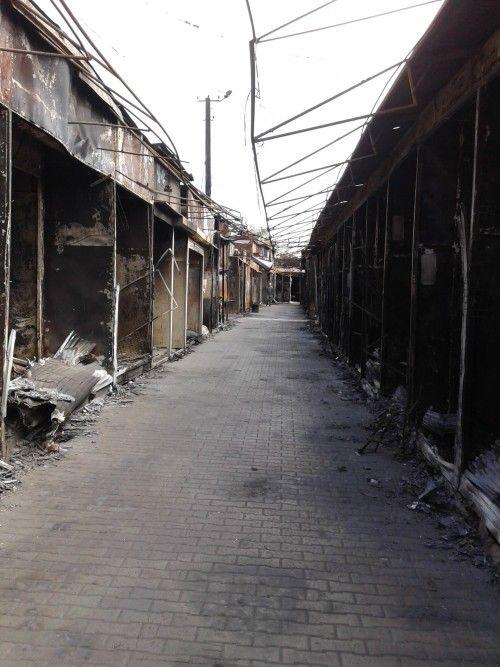 Последстия обстрелов в Луганске, иллюстрация