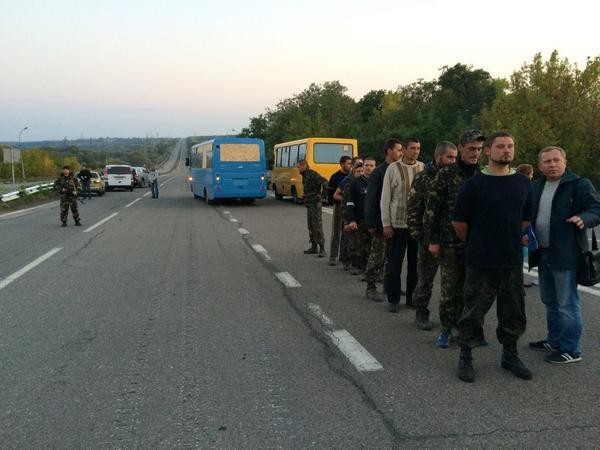 Пленные на Донбассе, иллюстрация