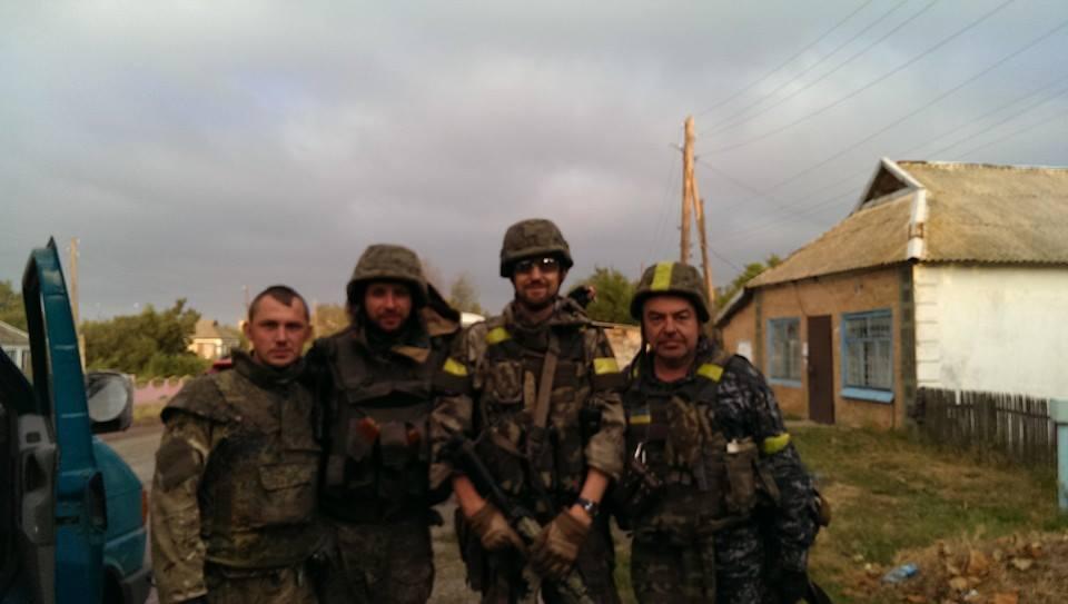 Андрей Тетерук и бойцы