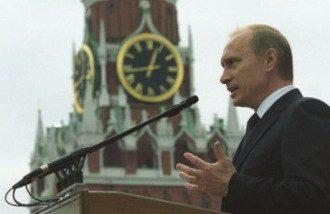 Владимир Путин у стен Кремля