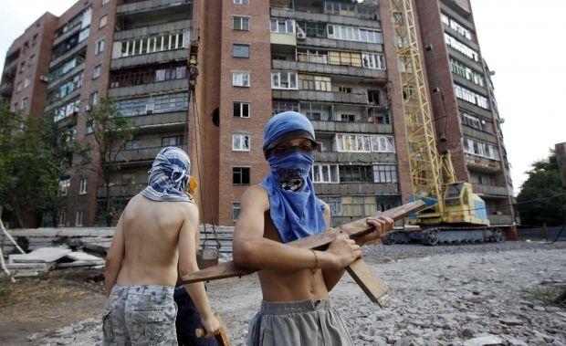 Дети Донбасс играют в
