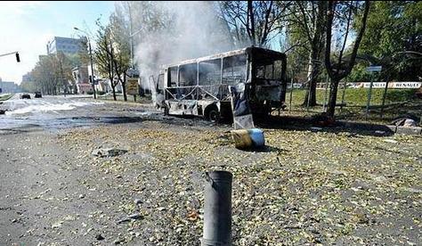 Обстрел маршрутки в Донецке, иллюстрация
