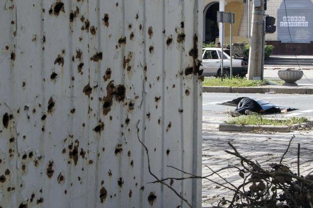 В Донецке продолжаются обстрел