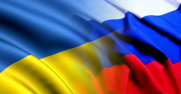 Украина Россия флаг