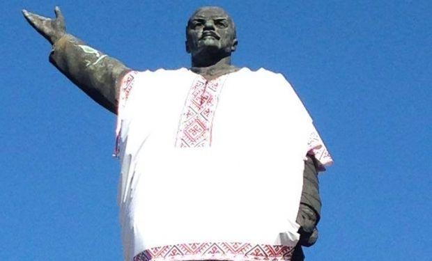 """""""Переодетый"""" Ленин в Запорожье"""