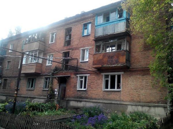 Результаты обстрела в Донецке, иллюстрация