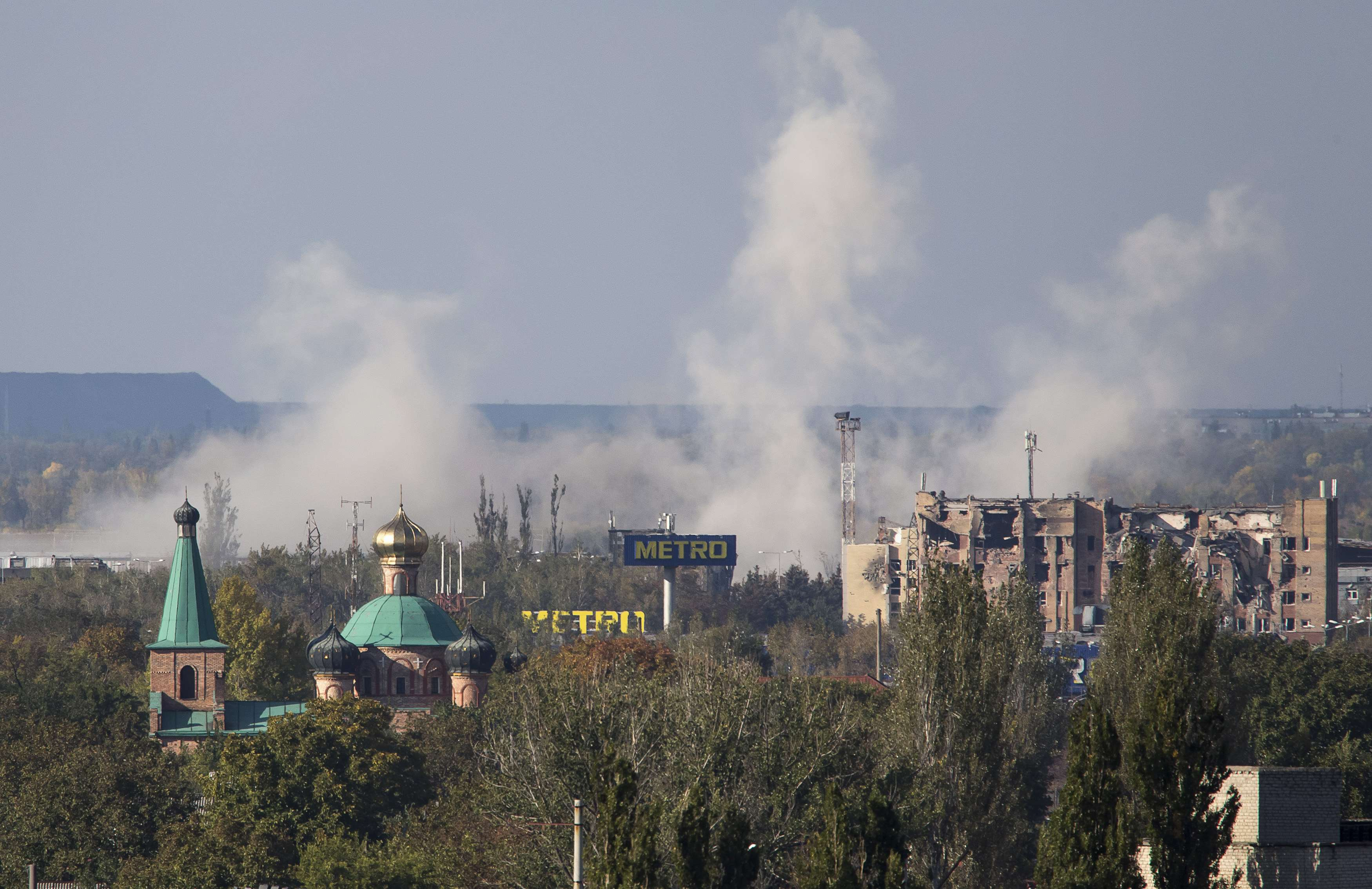 Аэропорт остается самым напряженным местом Донецка