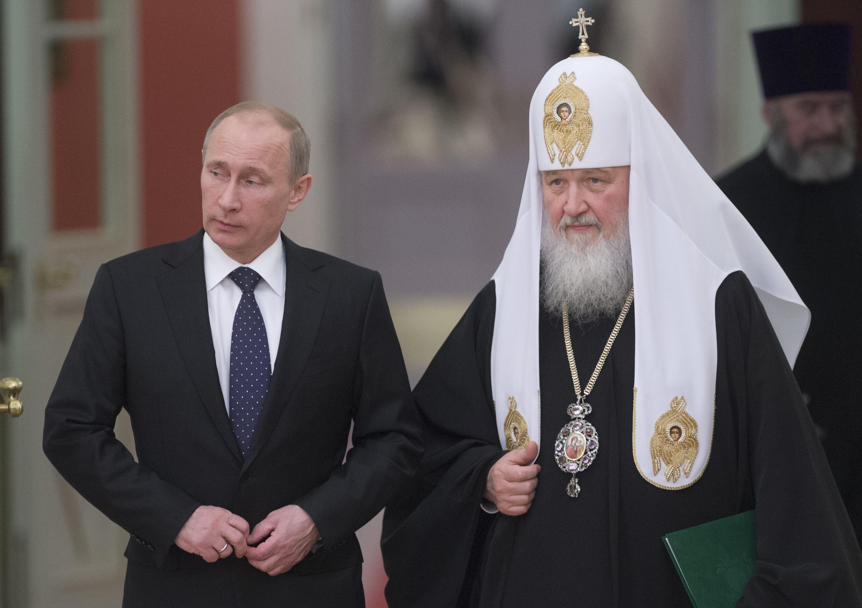 Владимир Путин и патриарх РПЦ Кирилл