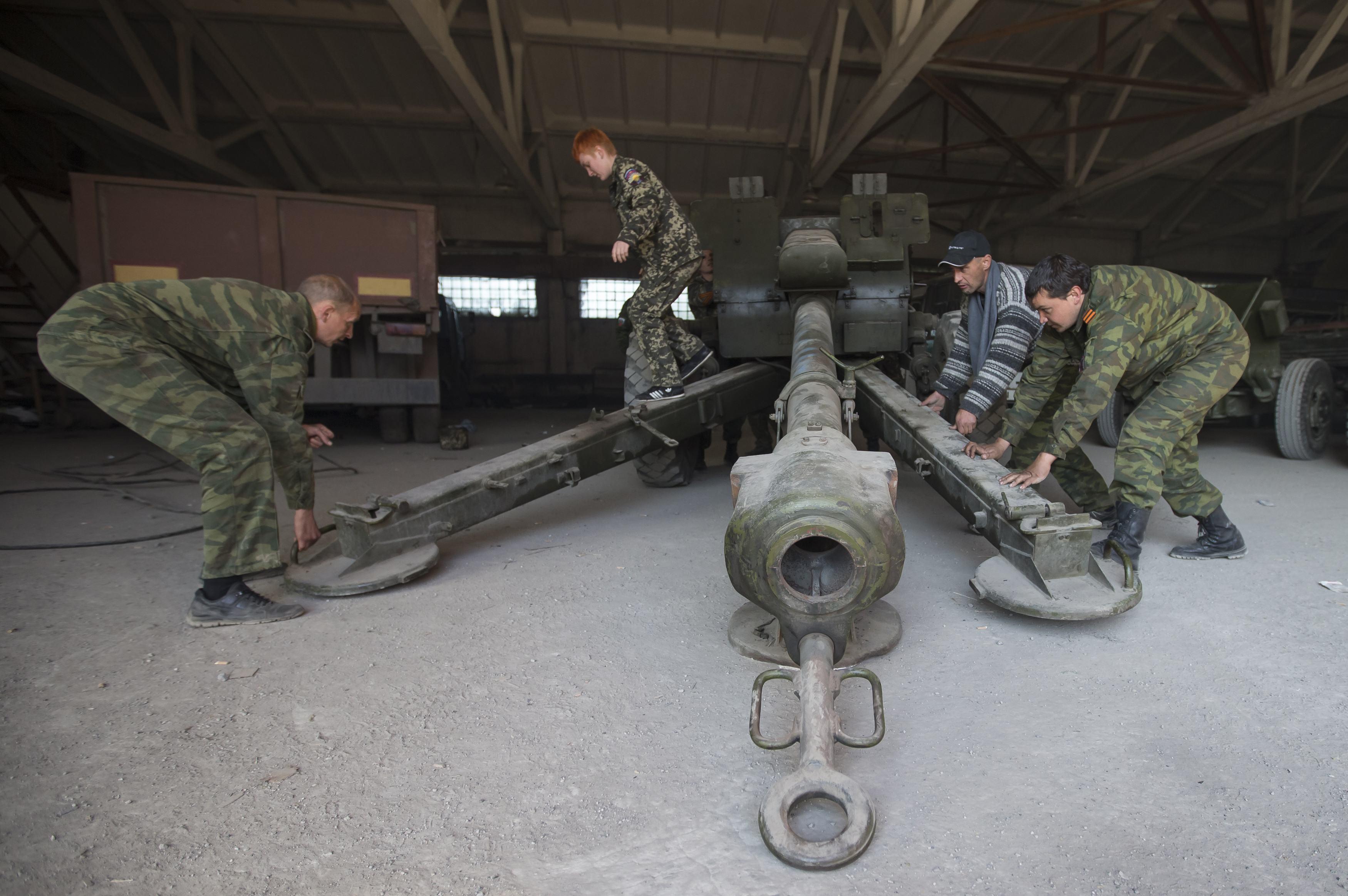 Артиллерия боевиков, иллюстрация