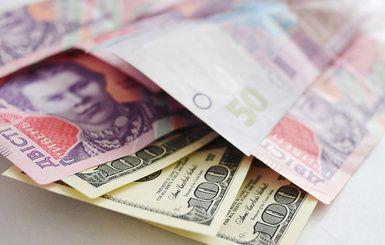 Гривны и доллары, иллюстрация