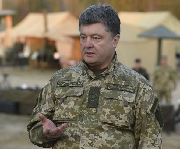 Порошенко проверил боеготовность сил АТО