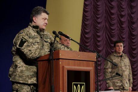 Петр Порошенко в Северодонецке