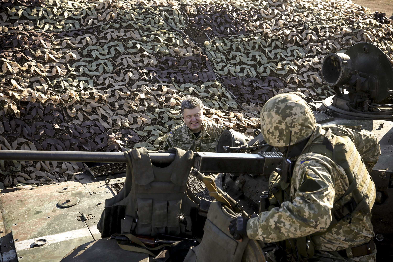 Порошенко в зоне АТО на Донбассе