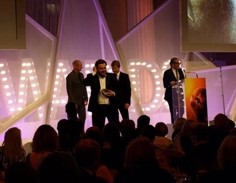 Мирослав Слабошпицкий на церемонии награждения в Лондоне