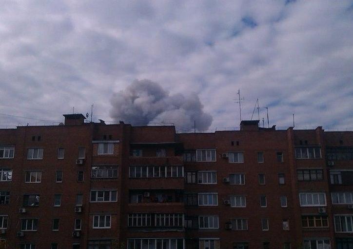 Последствия взрыва в Донецке, иллюстрация
