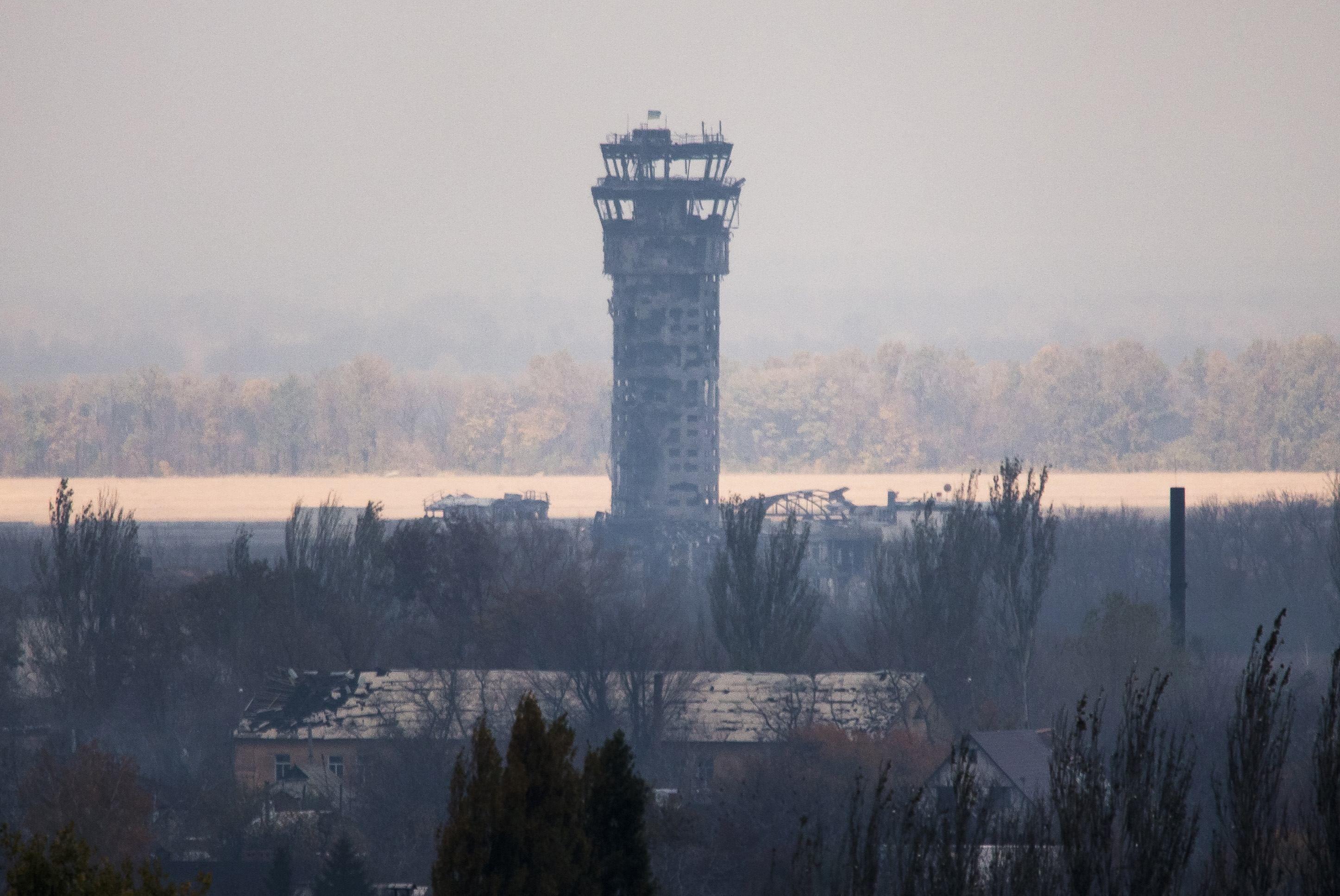 Диспетчерская вышка Донецкого аэропорта