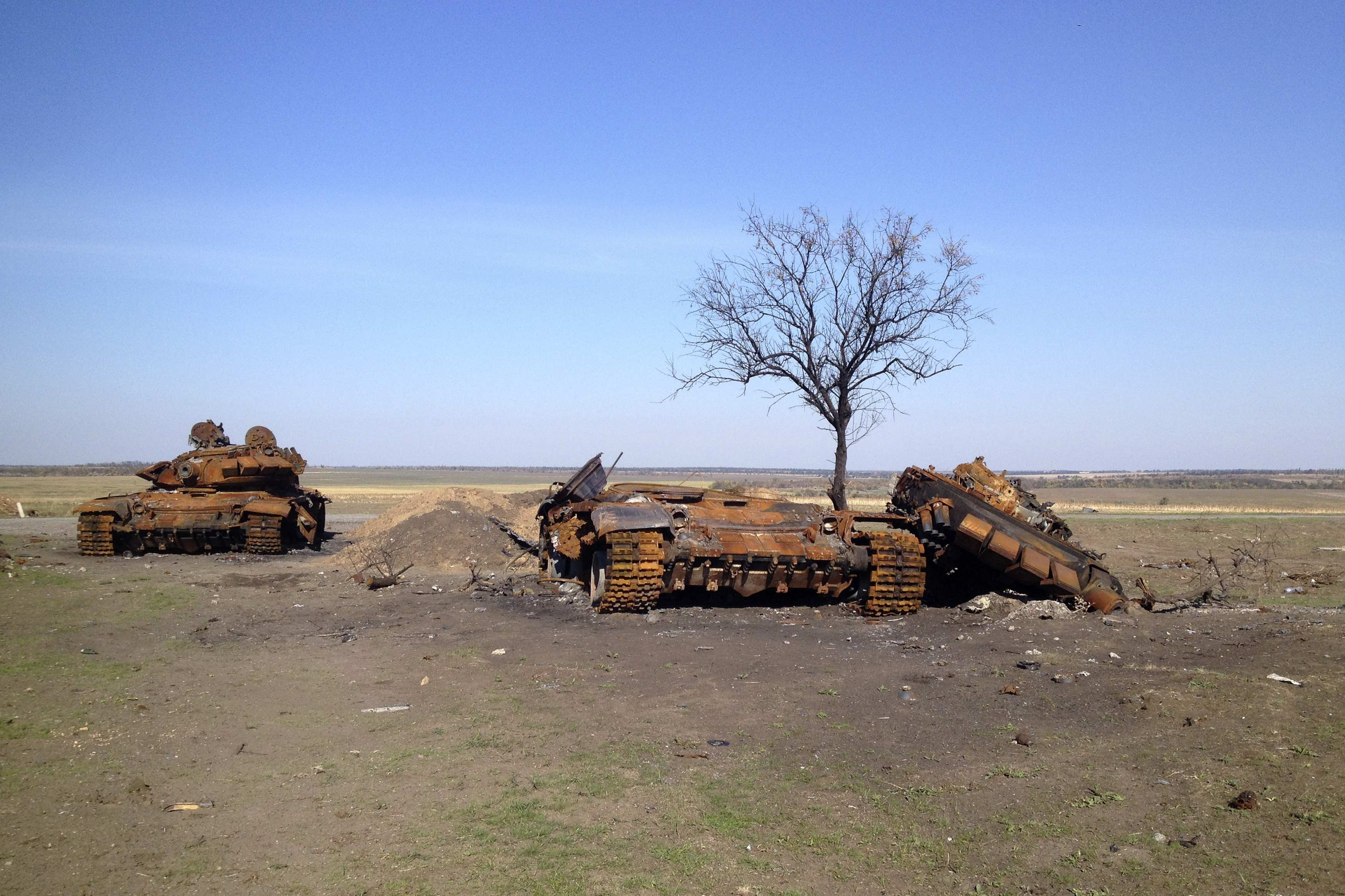 Подбитые танки, иллюстрация