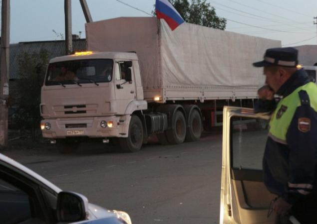 Российский гумконвой на Донбассе, иллюстрация