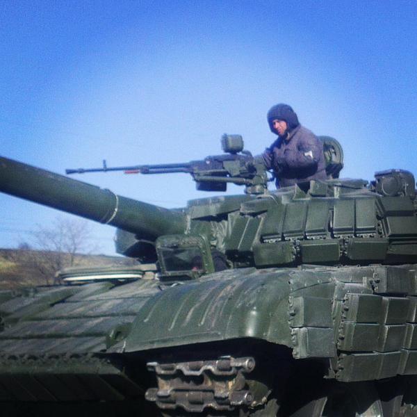 Танк боевиков на Донбассе