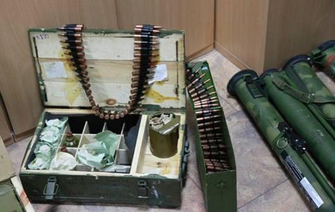 СБУ обнаружила арсенал оружия боевиков