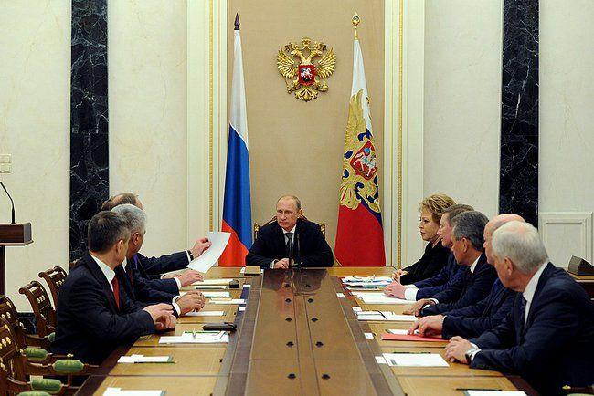 Путин проводит совещание Совбеза РФ.