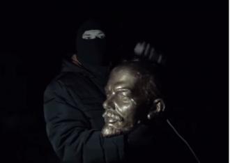 Голова памятника Ленину
