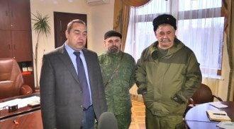 """Российские """"казаки"""" на Луганщине, иллюстрация"""