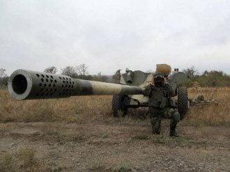 Артиллерия сил АТО по Мариуполем