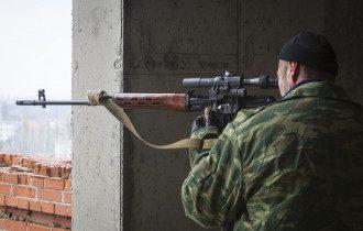Вражеский снайпер на Донбассе, иллюстрация