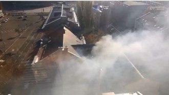 В Киеве горит ресторан