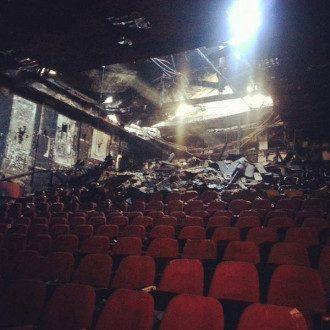 Один из зрительных залов после пожара