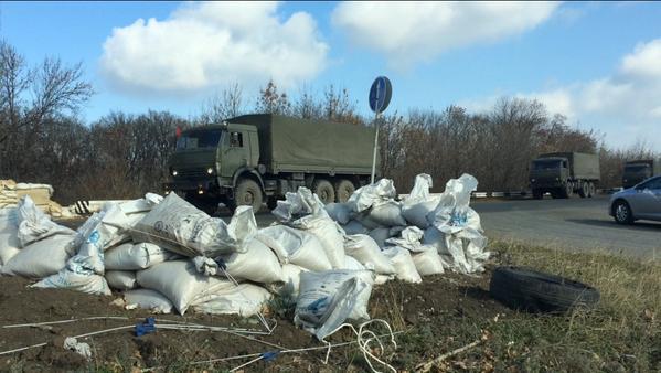 Российский военный конвой на Донбассе