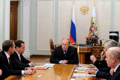 Владимир Путин с Совбезом РФ
