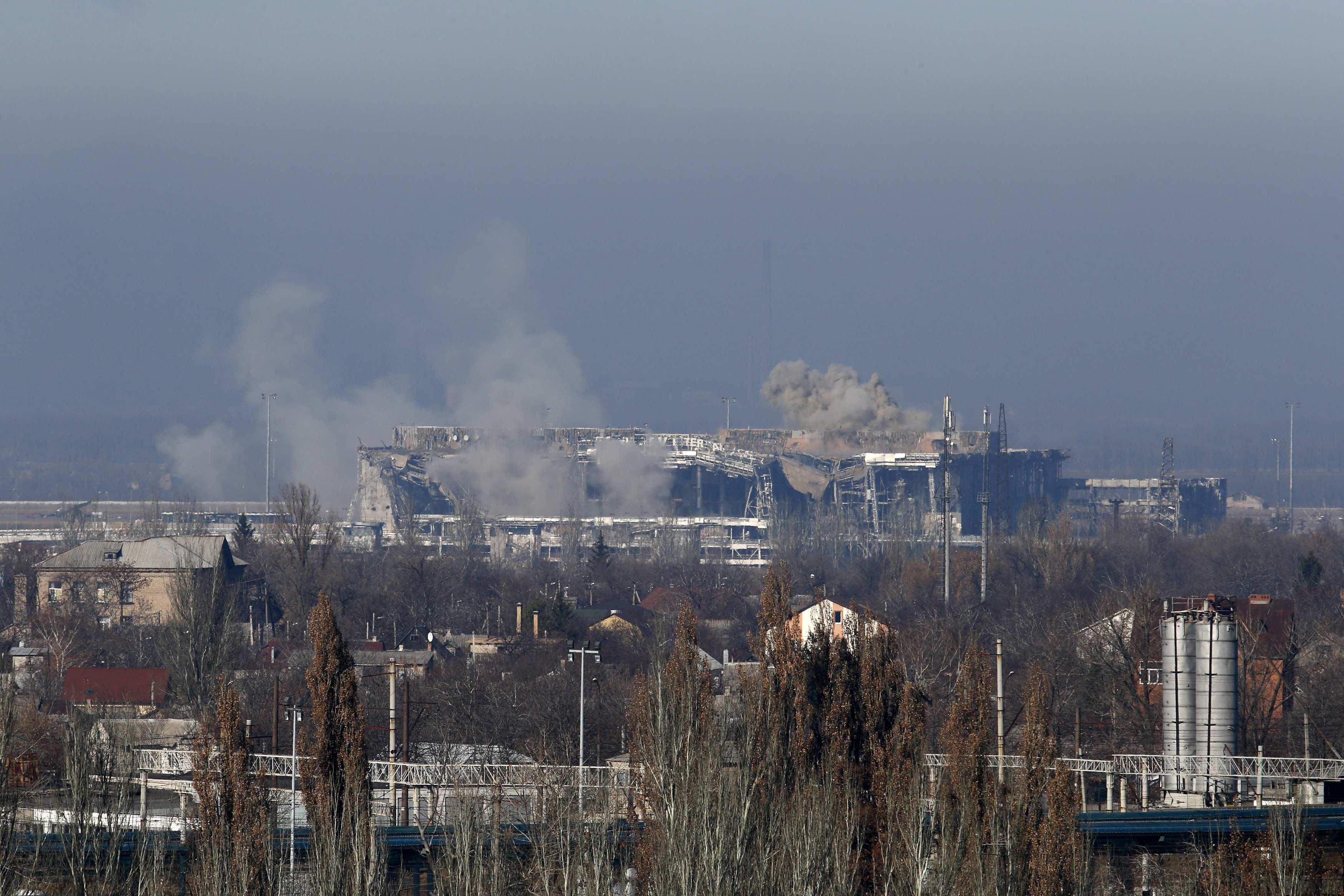 Обстрел Донецкого аэропорта, иллюстрация