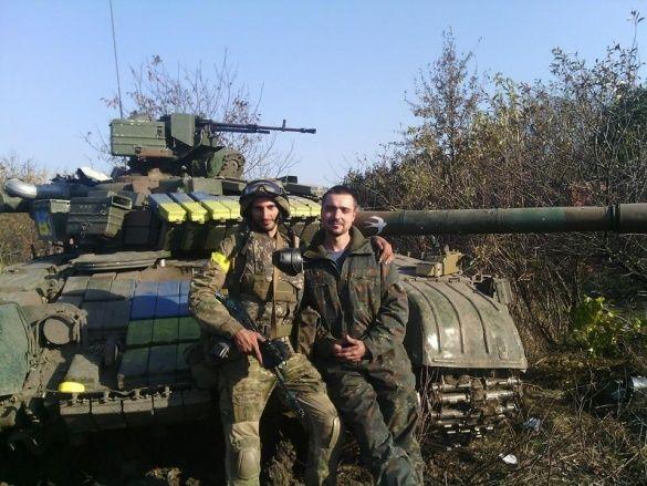 Иван  Начовный (справа) и боевой побратим  Владислав Земляной