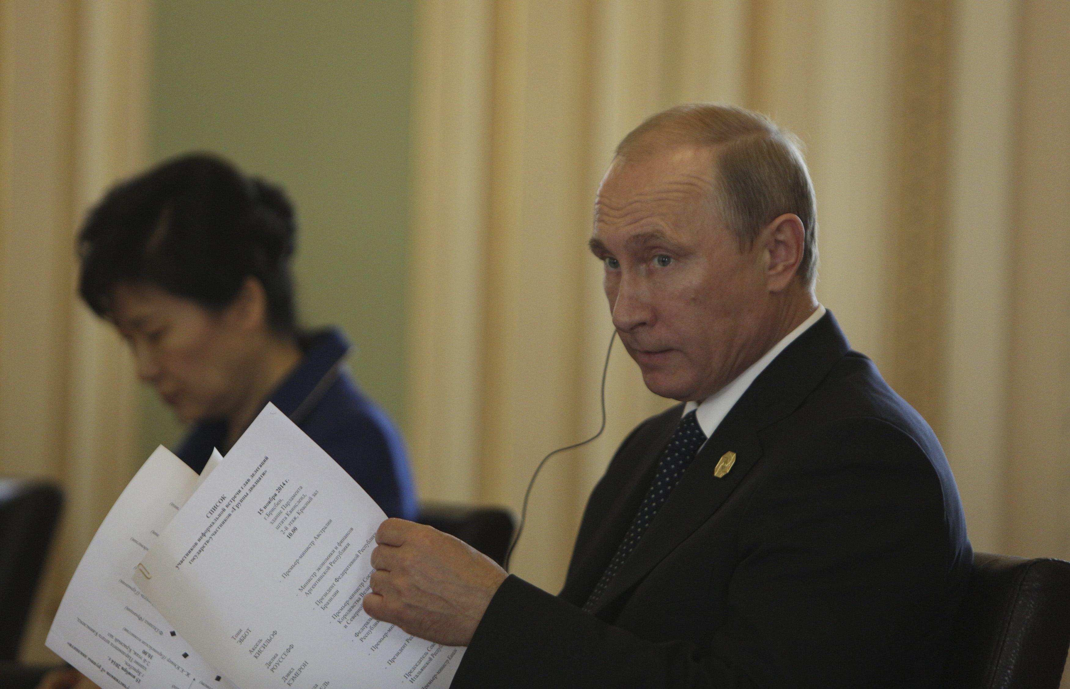 Владимир Путин на саммите в Австралии