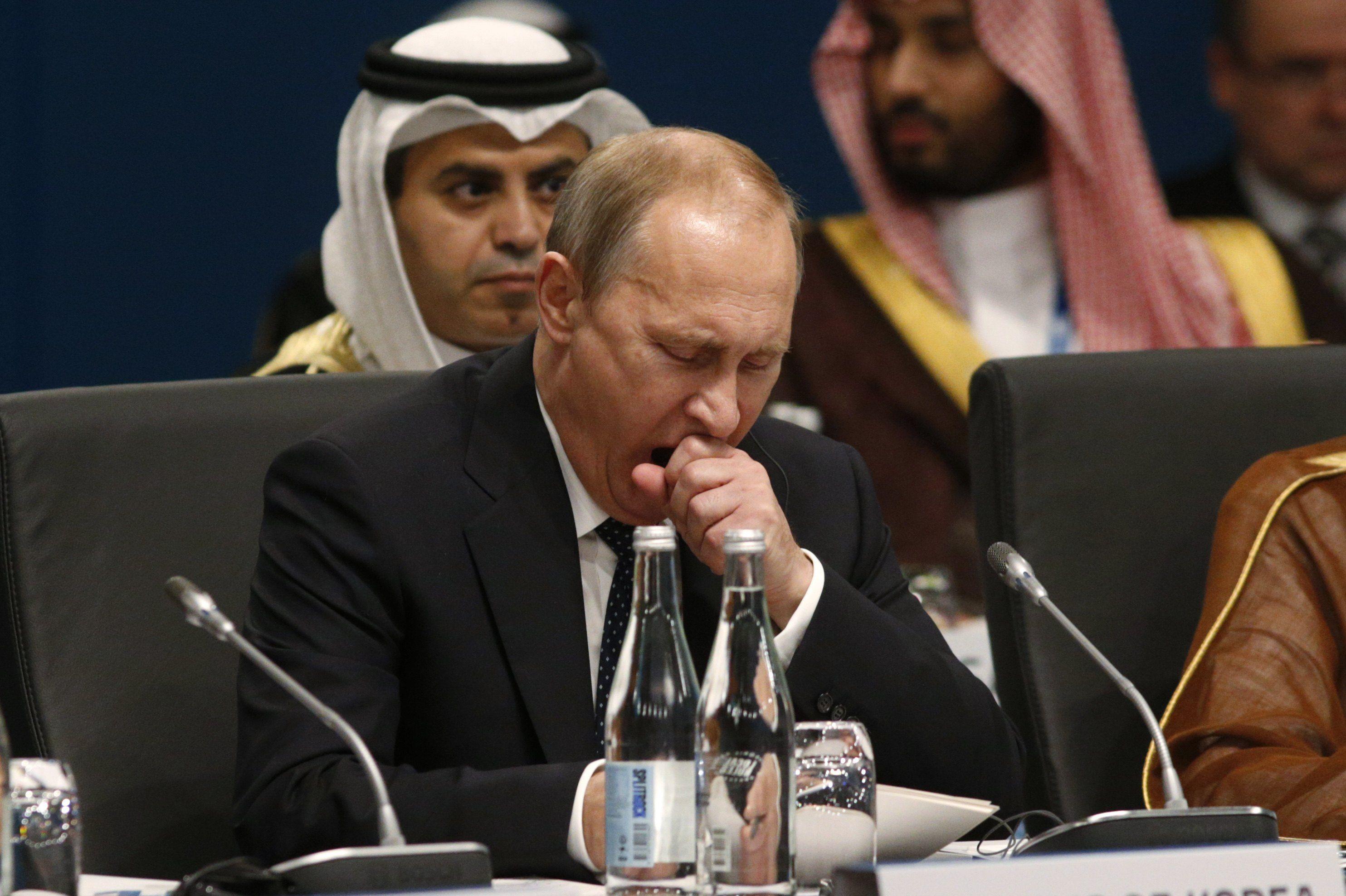 Зевающий Путин на саммите лидеров G-20