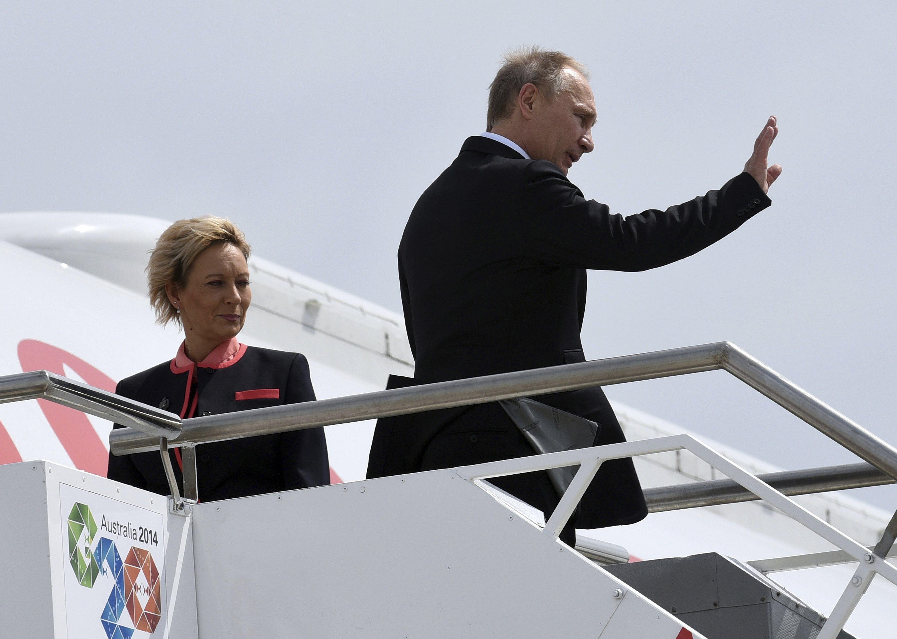 Путин улетает из Австралии