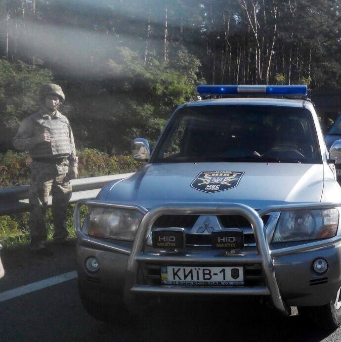 Объединенный патруль ГАИ и добровольцев в Киеве