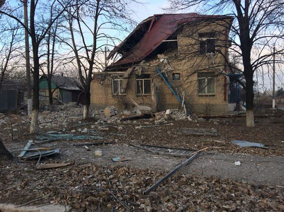 Разрушения на Донбассе, иллюстрация