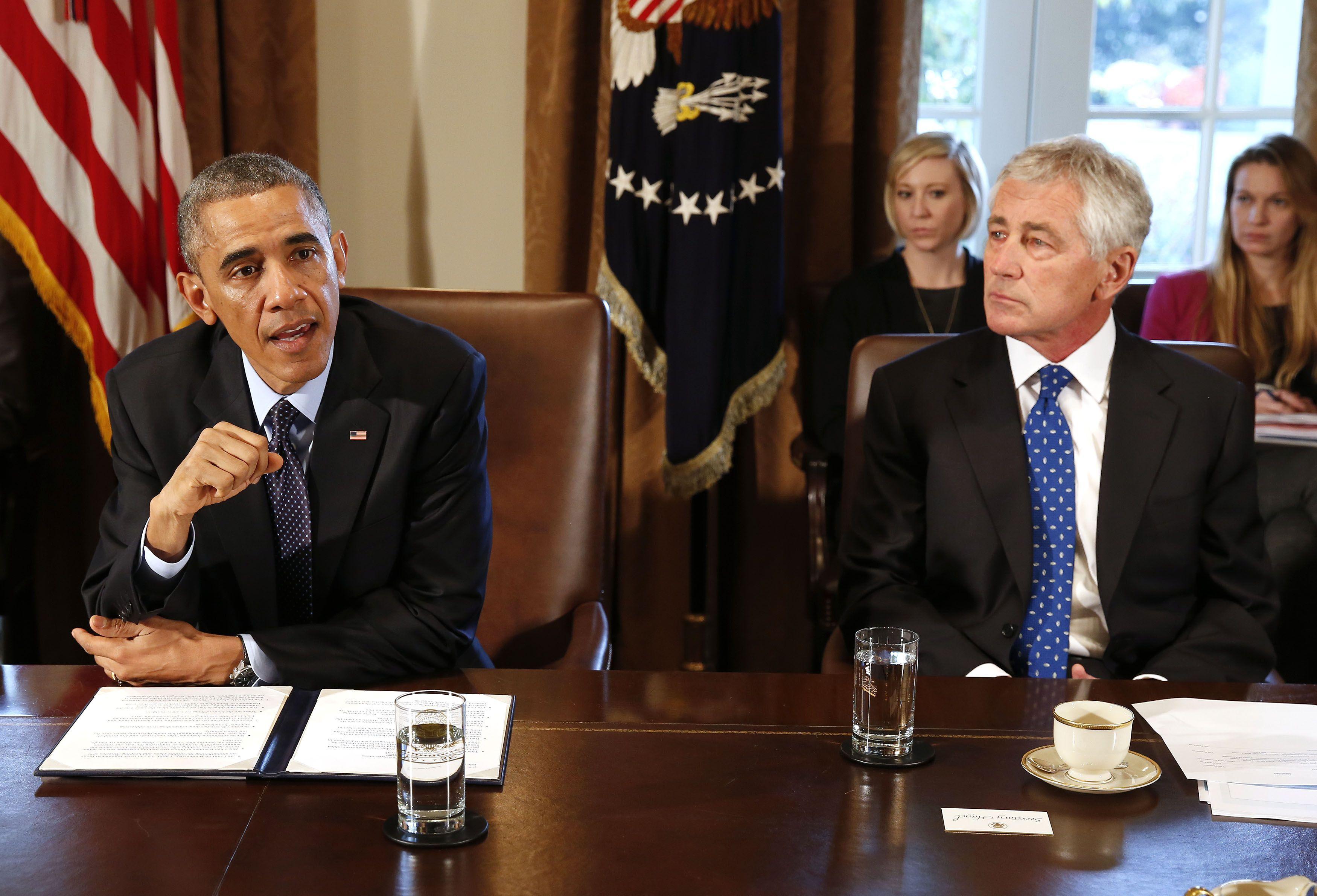 Обама и Хейгел