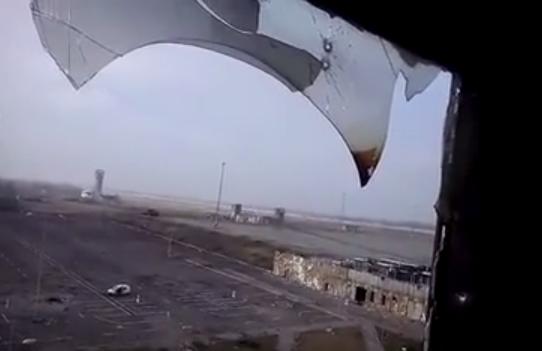 Разрушенный донецкий аэропорт, иллюстрация