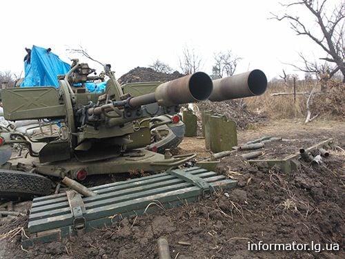 Позиции сил АТО под Станицей Луганской