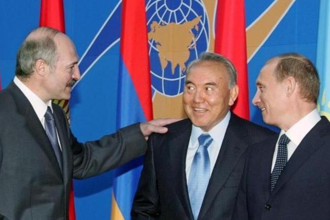 Лукашенко, Назарбаев и Путин