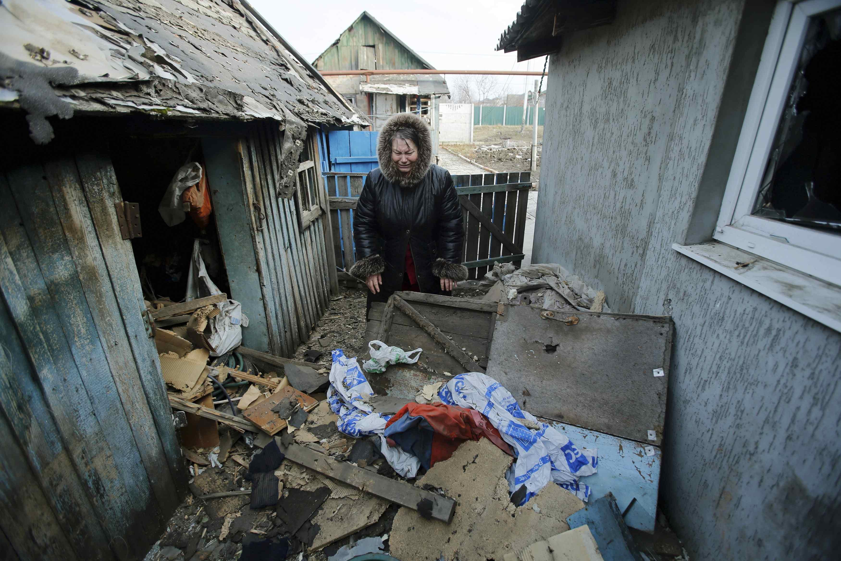 Результаты обстрелов боевиками Донецка, иллюстрация