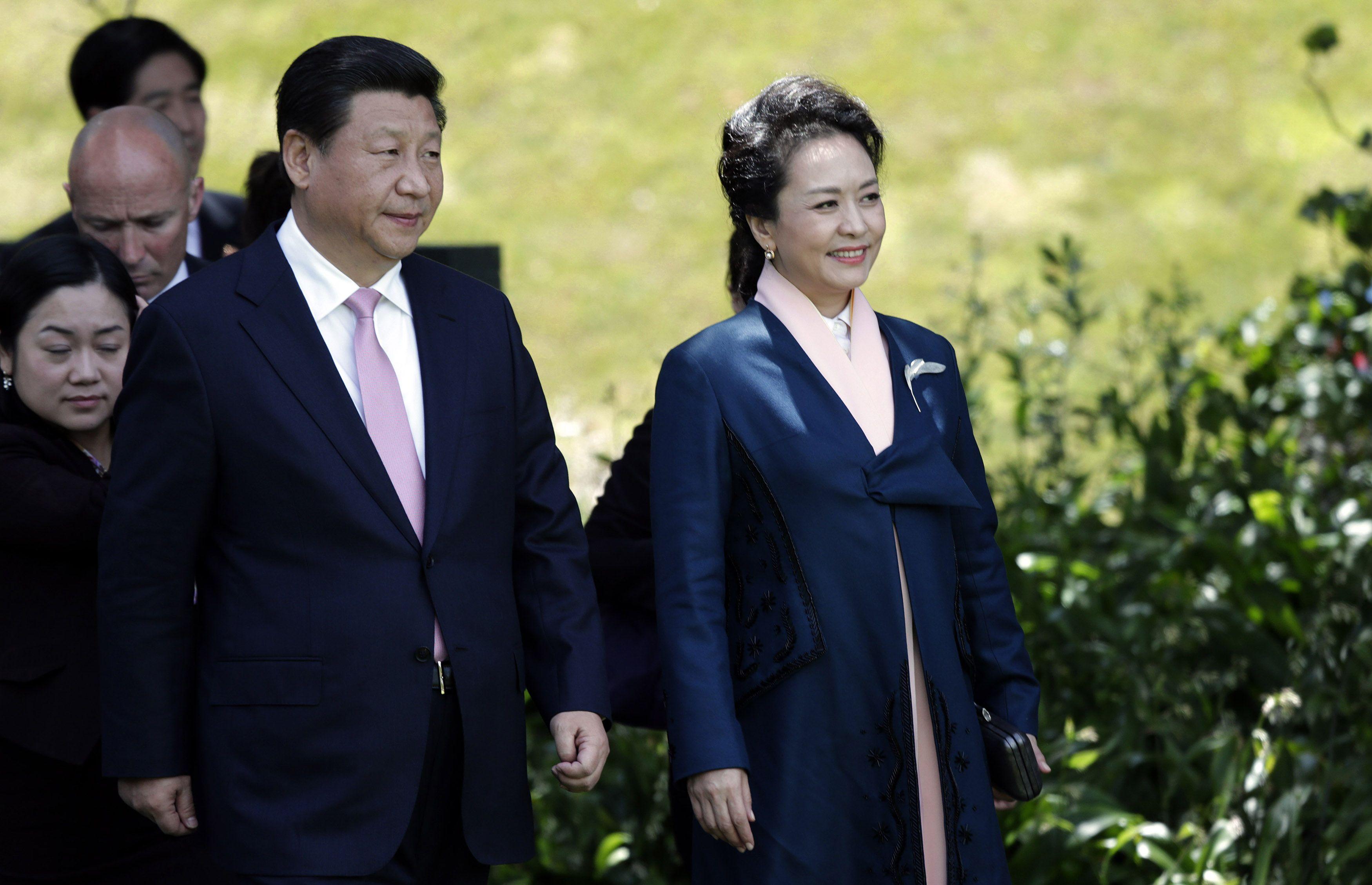 Президент Китая Си Цзиньпин с супругой