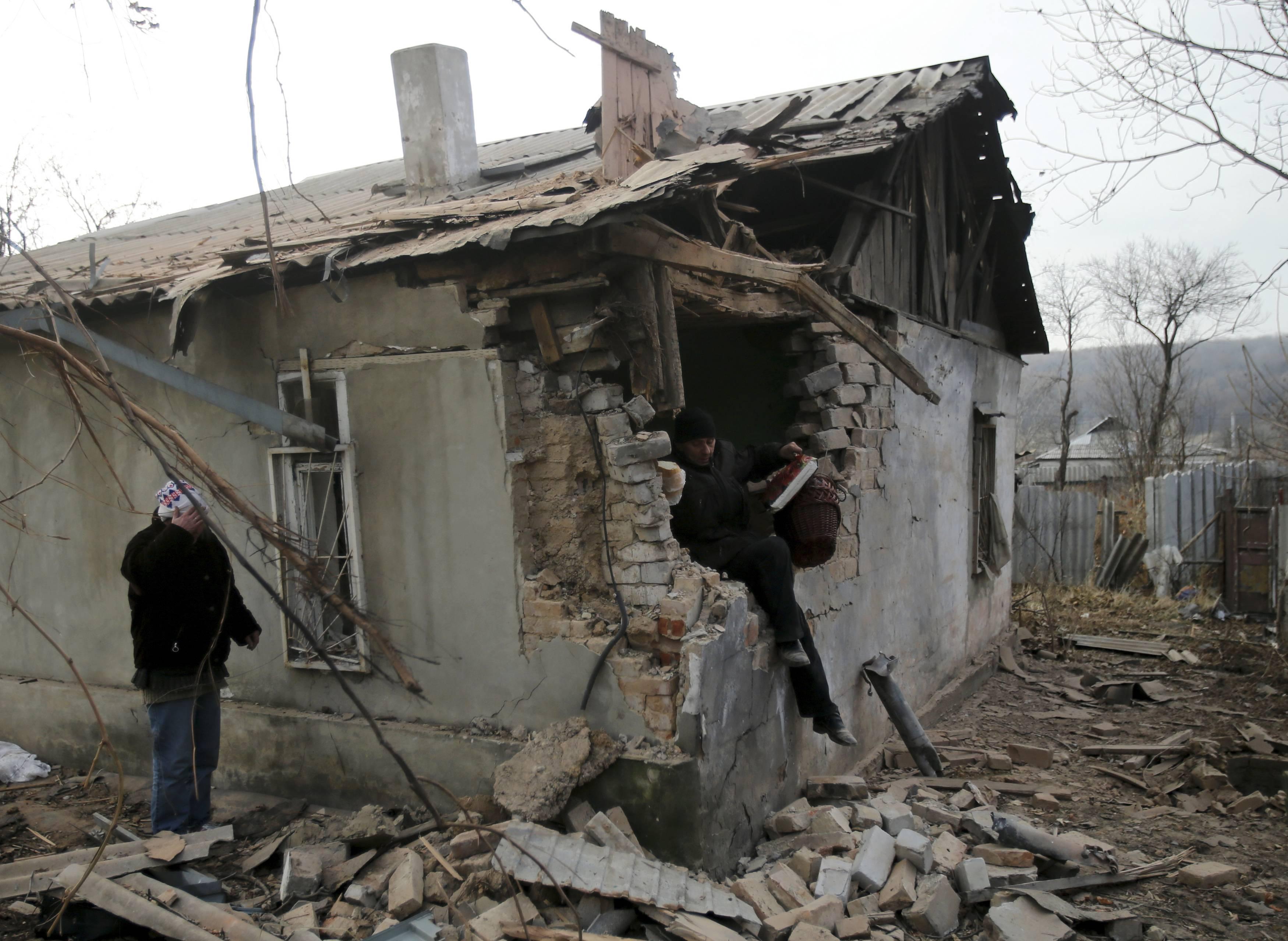 Разрушенные дома Донбасса, иллюстрация