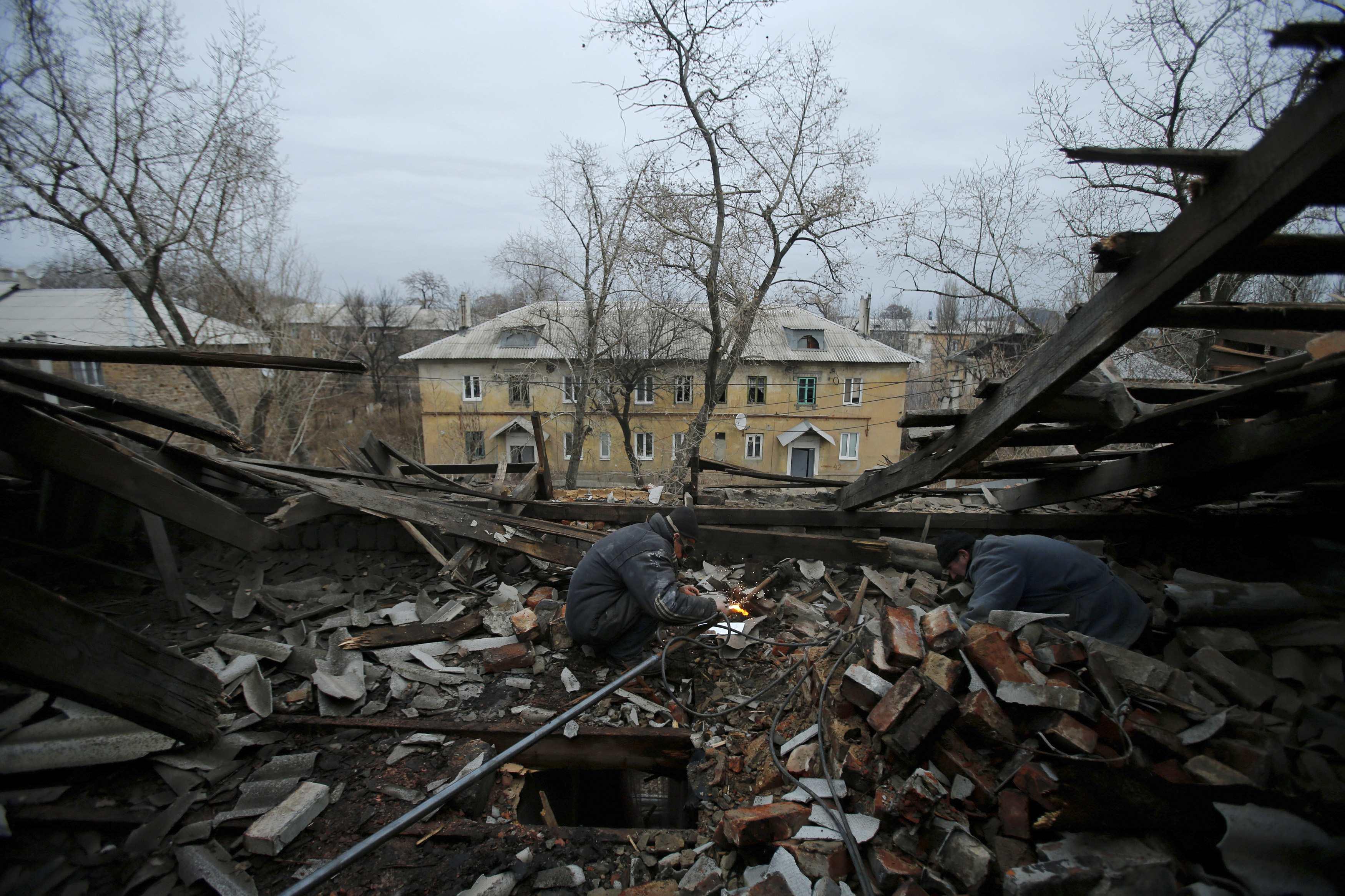 Разрушения Донецка, иллюстрация