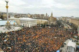 Майдане Независимости в 2004 году, иллюстрация